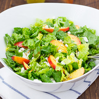 Nectarine, Feta & White Balsamic Salad {gluten-free}.