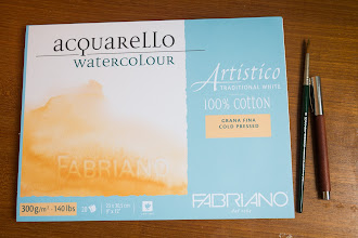 Photo: Fabriano Artistico Watercolour Paper. Coldpress 300GSM