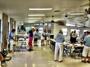 Photo: A quiet benediction prior to the Saturday morning meeting following breakfast....