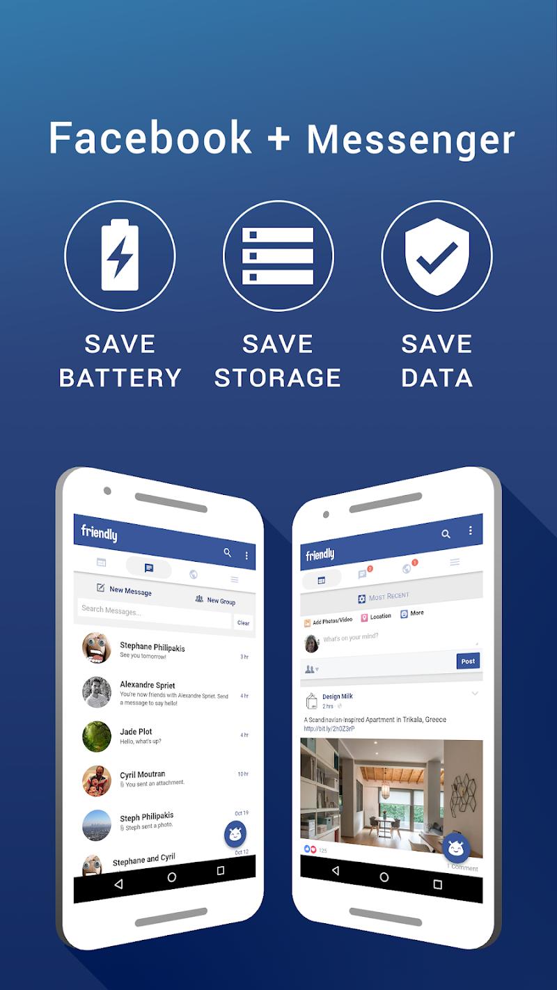 Friendly for Facebook v4.5.24 [Premium Mod] AOSP APK [Latest]