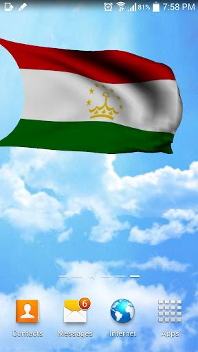 3D Tajikistan Flag Wallpaper