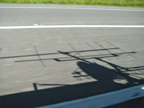 Photo: K8GP / Rover microwave antenna shadow and 144 6L