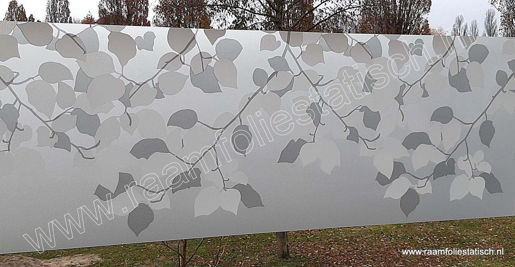 Statische raamfolie Linea fix bladeren