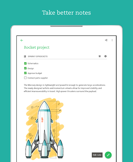 Screenshot 7 for Evernote's Android app'