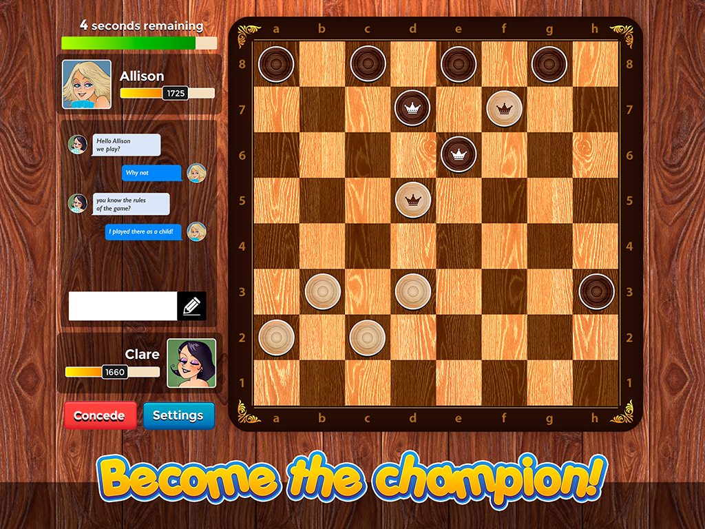 Checkers Plus - Social Games- screenshot