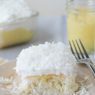 Coconut and Lemon Poke Cake.