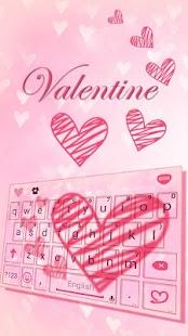 Valentine Kika Keyboard - náhled