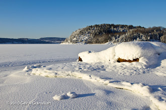 Photo: Drammensfjorden covered by ice during the cold winter 2009-2010