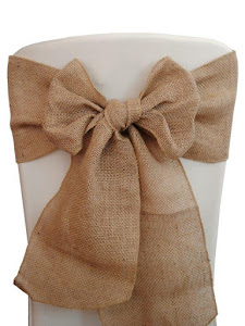 Chair Tie (Burlap/Hessian)