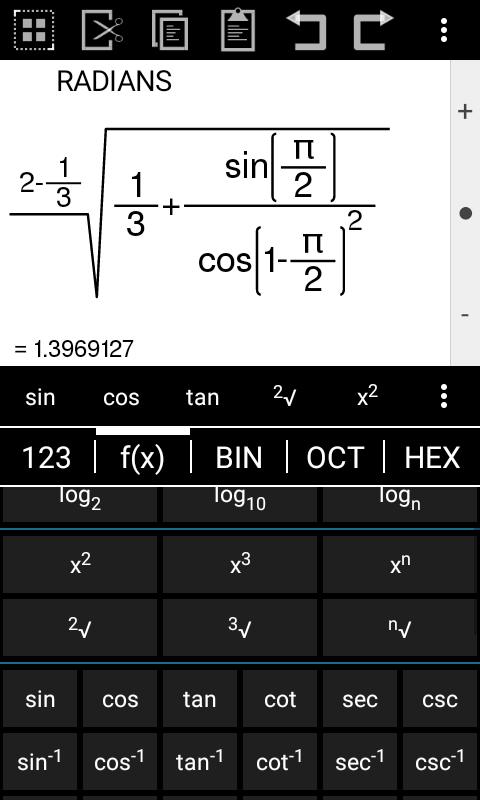 Calc and Graph- screenshot