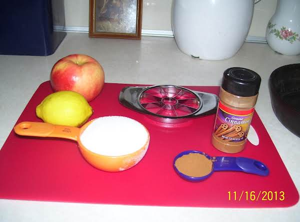 Ingredients For Spiced Apples