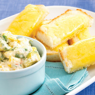 Corn Dip with Cheesy Bread.