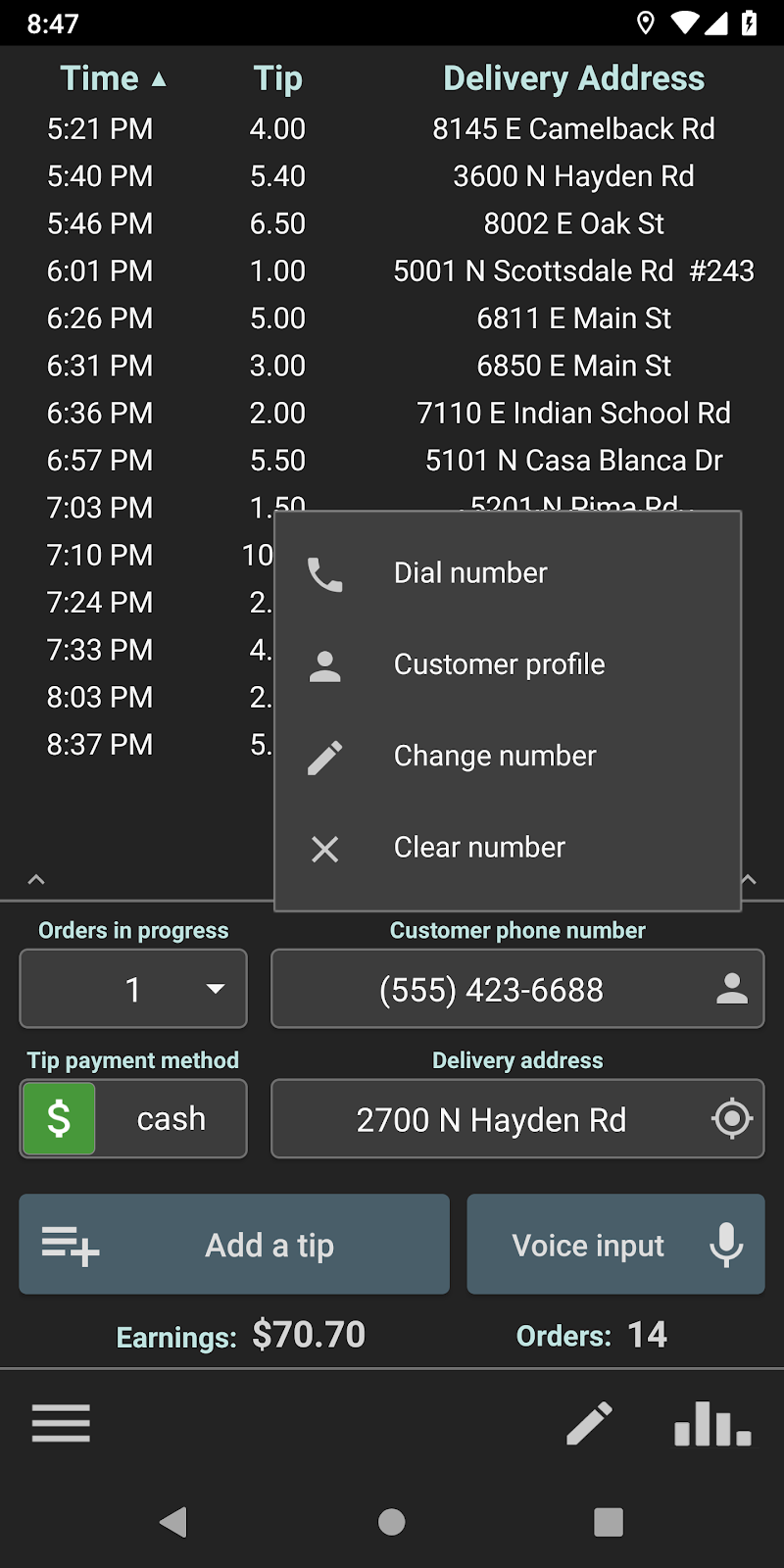 Delivery Tip Tracker Pro Screenshot 0