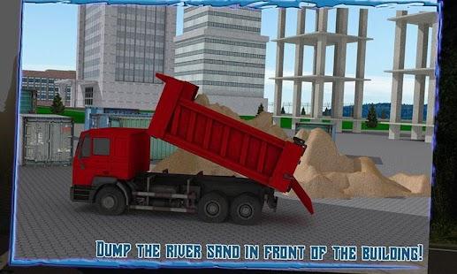 Transport-Truck-3D-River-Sand 2