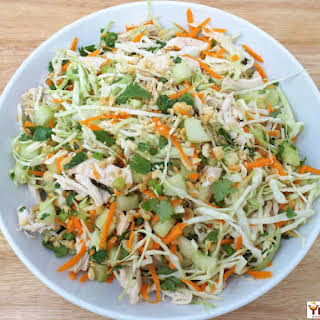 Thai Chicken Salad with Chili Lime Dressing.