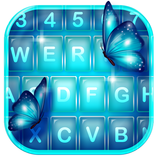 Neon Butterfly Keyboard Themes