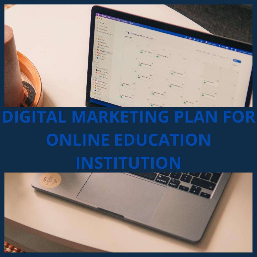 Digital Marketing Plan, Strategy.