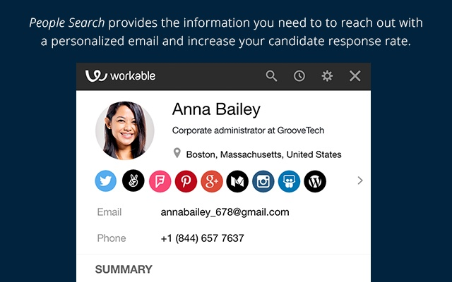 People Search - email and resume finder - Chrome Web Store