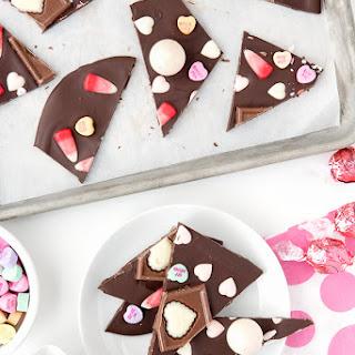 Chocolate Candy Valentine's Bark