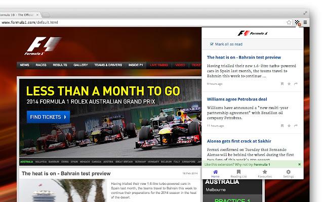 F1 News chrome extension