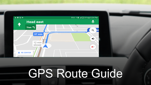 GPS Route Guide - Live Earth Map Apps (apk) free download for Android/PC/Windows screenshot