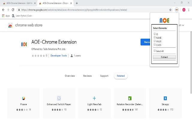 AOE-Chrome Extension