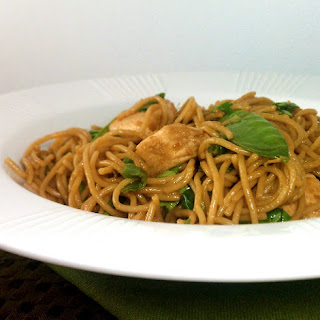 Spicy Sesame Noodles with Chicken.