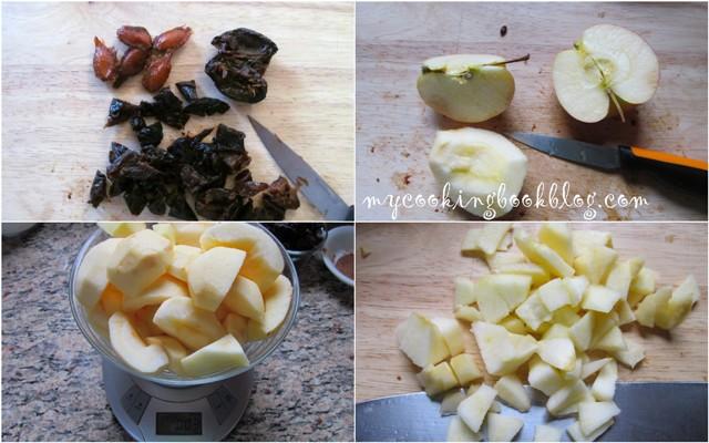 Ябълкова пита със сушени сини сливи