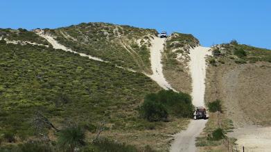 Photo: First sandy hill climb