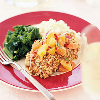 Walnut-Crusted Halibut with Orange Salsa