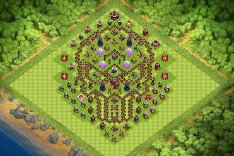 Maps COC TH 10 Hybrid Base - náhled