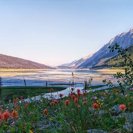 Medicine Lake by Margie Troyer - Landscapes Mountains & Hills