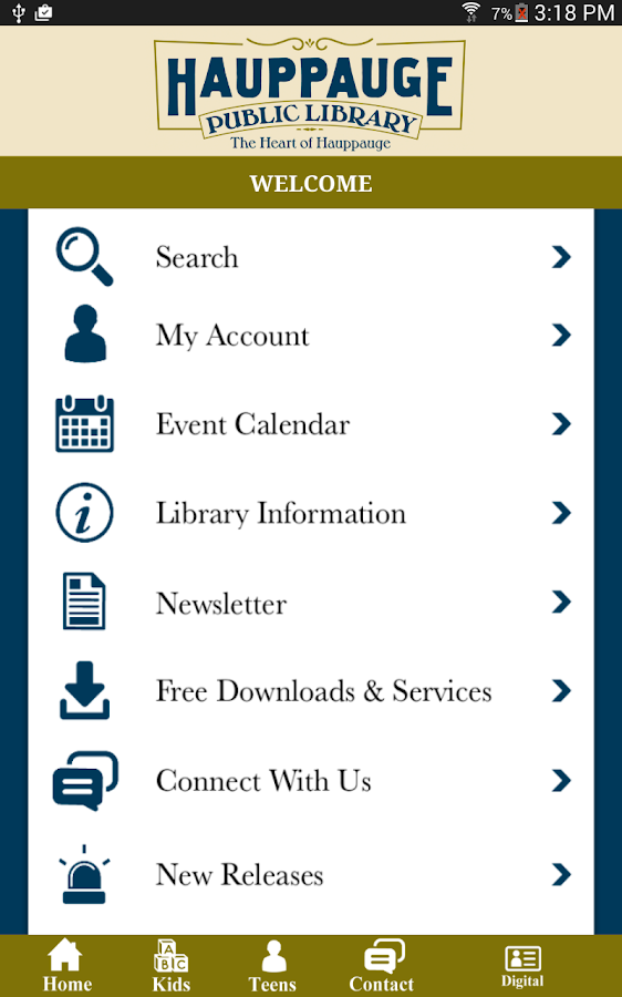 Hauppauge Public Library- screenshot