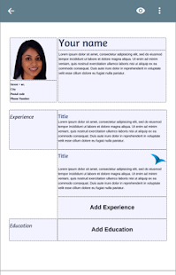 free resume app screenshot thumbnail