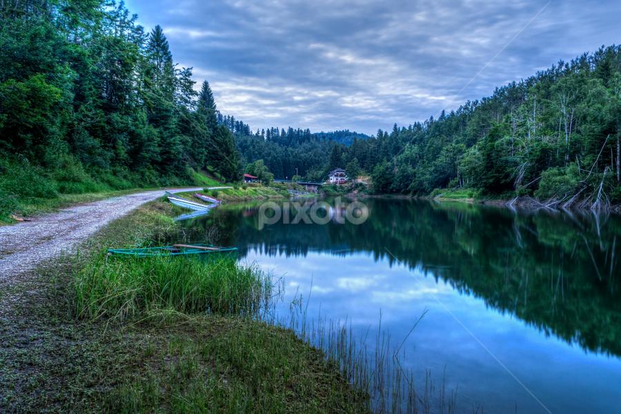 Afternoon reflection by Siniša Biljan - Landscapes Waterscapes (  )