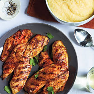 Grilled Tilapia with Smoked Paprika and Parmesan Polenta.