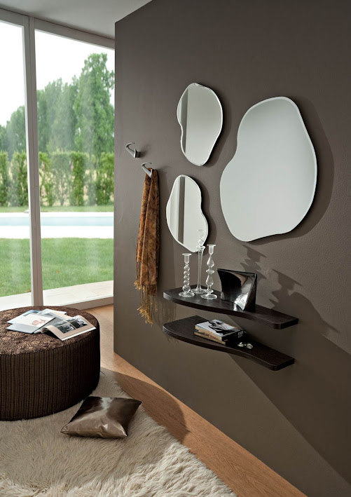 Forme Di Specchi Particolari.Ingresso Tamigi Mensole E Specchi Particolari Moderni Di Design