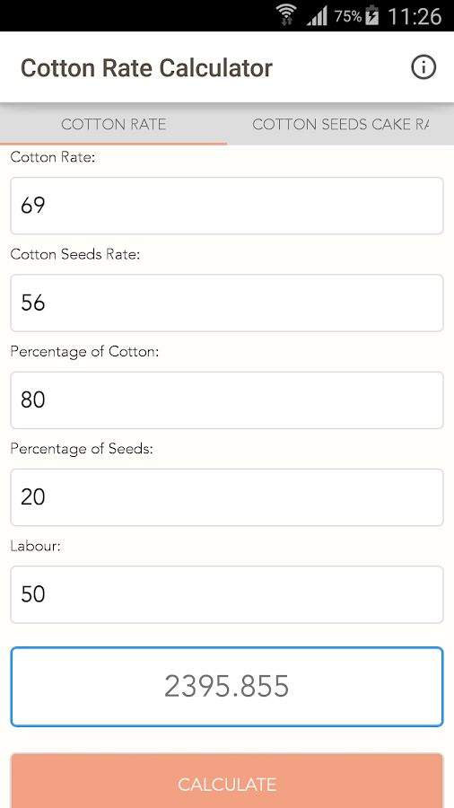 Cotton Rate Calculator- screenshot