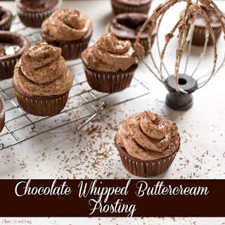 Chocolate Whipped Buttercream Frosting.