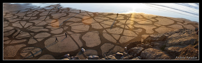 Photo: Am early version of Substructures. Done a general public team on Ocean Beach, SF