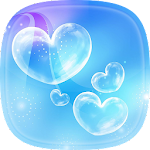 Bubble Live Wallpaper with Moving Bubbles Pictures Icon