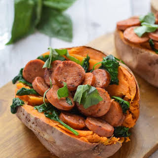 Sausage Stuffed Sweet Potatoes.