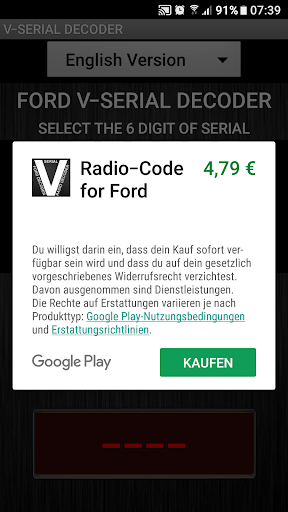 V-Serial Radio Code Decoder  screenshots 2