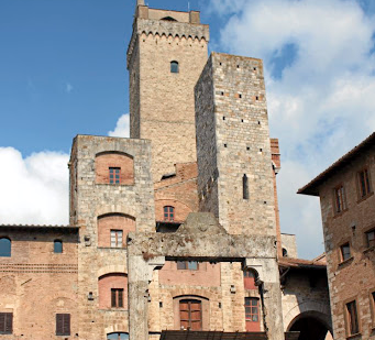 The view of San Gimignano from Torre Grossa. It is the town's tallest tower and the only one accessible to the public