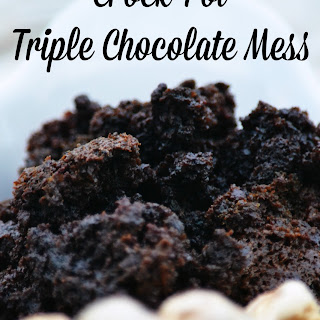 Crock Pot Triple Chocolate Mess Cake.