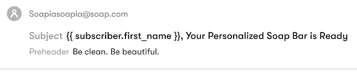Personalized email subject line