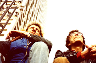 Photo: Hangin' on the steps of the Keio Plaza Hotel, Tokyo with Gordon Huthart. Sometime in 1982.