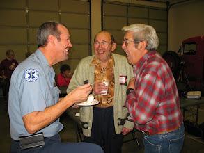 Photo: Former Hauser Lake fire chiefs Gary Mobbs, Werner Jahnsen and Bob Laverdure