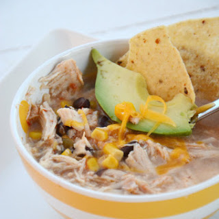 Crock Pot Chicken and Black Bean Soup.