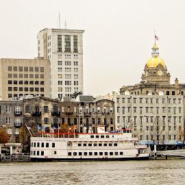 Savannah by Richard Michael Lingo - Buildings & Architecture Other Exteriors ( georgia, exteriors, buildings, savannah, river )